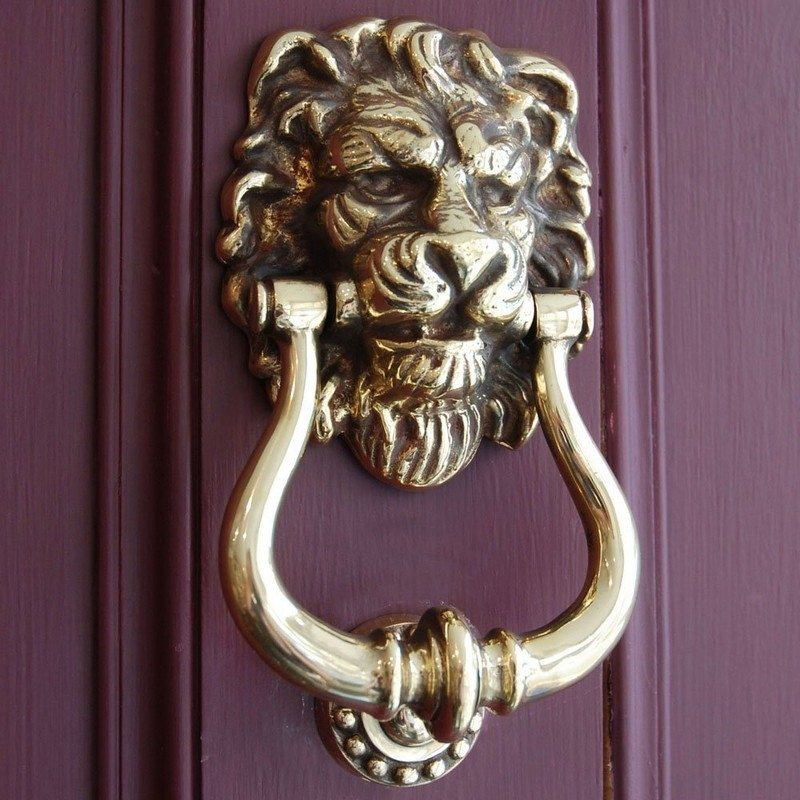 Lion Head Door Knocker & Unique Door Knockers Pezcame.Com