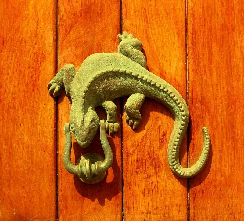 Cast Iron Gecko Door Knocker