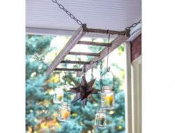 Mason Jar Chandelier Candle