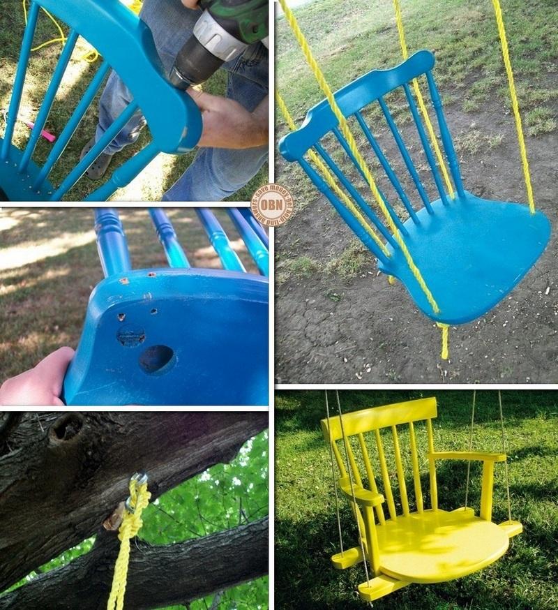 DIY Chair Tree Swing
