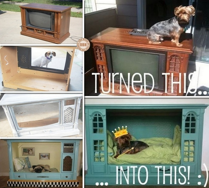 DIY Old TV Dog Bed