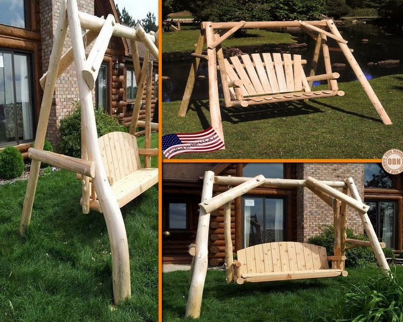 Outdoor Log Swing