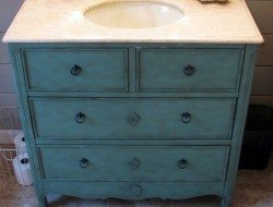 Old Dresser Turned Vanity