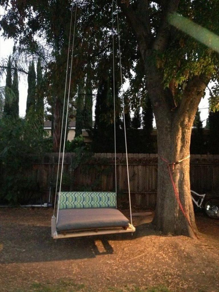 Diy Pallet Swing Bed The Owner Builder Network