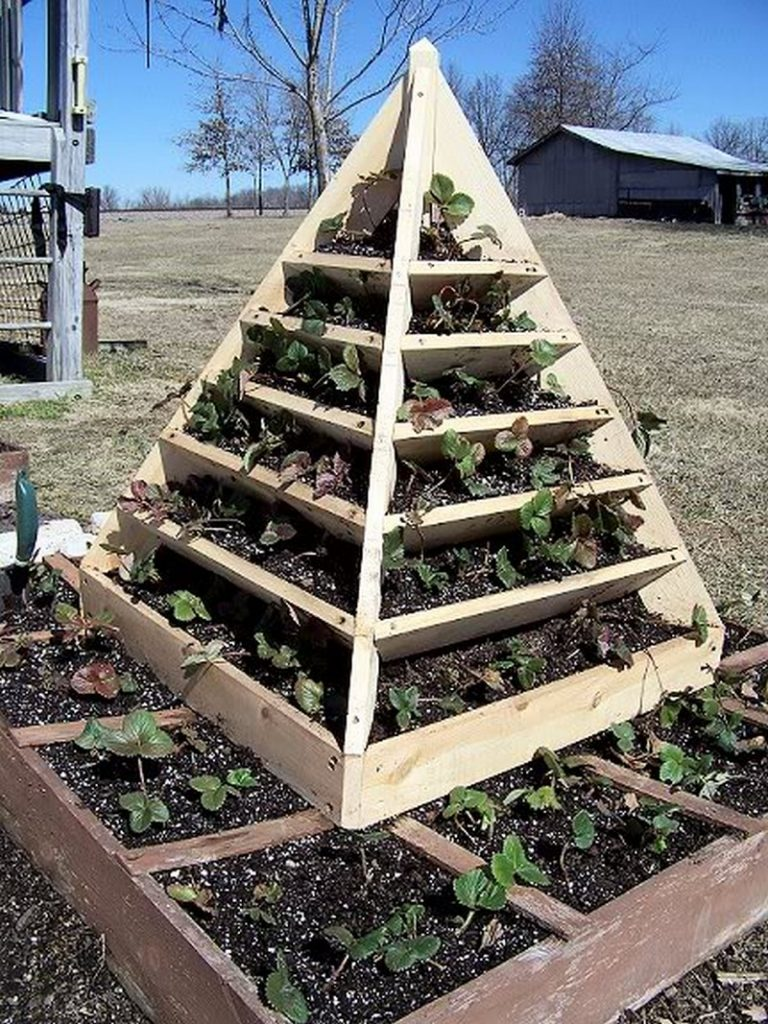 How To Make A Strawberry Pyramid Planter