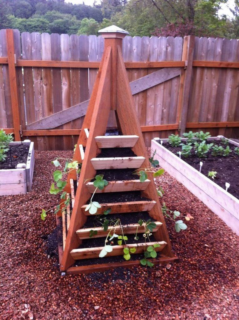 Strawberry Pyramid Planter Examples