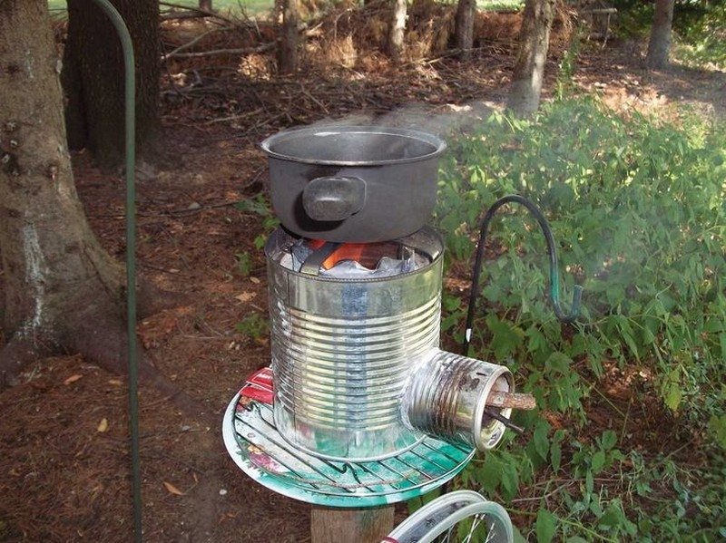 Diy portable tin can rocket stove the owner builder network for Make a rocket stove