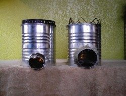 Tin Can Rocket Stove Examples