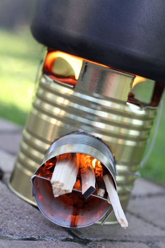 Tin Can Rocket Stove Examples