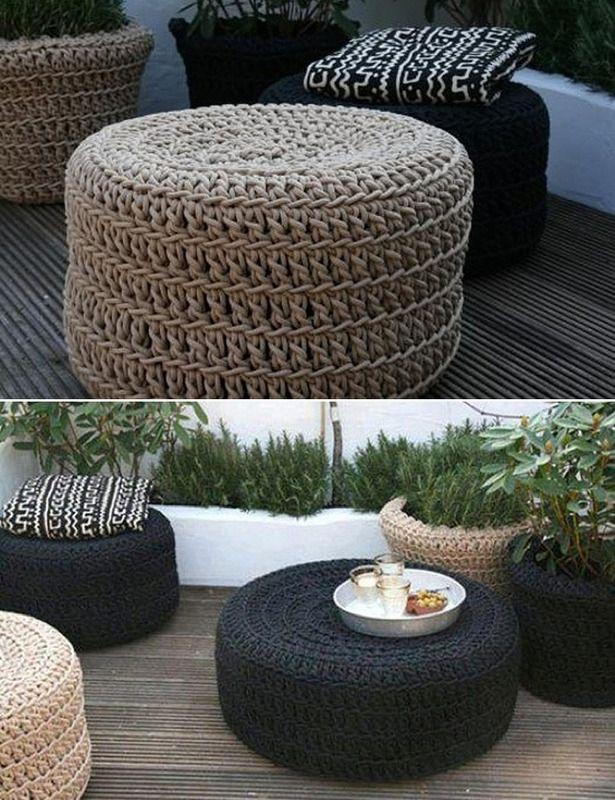 diy tire ottoman the owner builder network. Black Bedroom Furniture Sets. Home Design Ideas