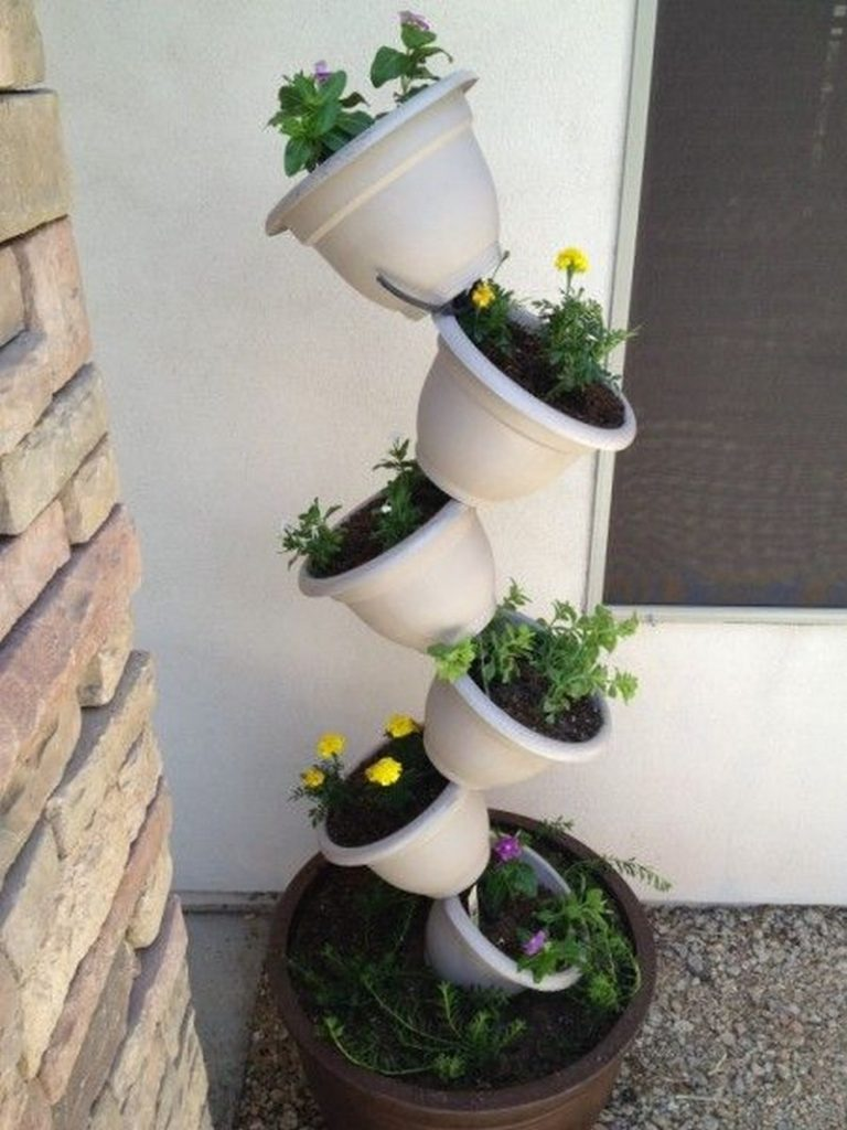 Diy Topsy Turvy Herb Garden The Owner Builder Network