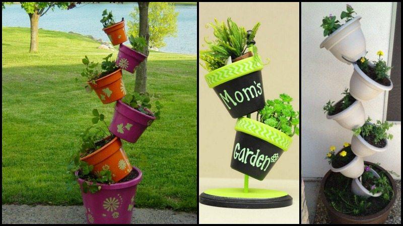 Topsy-Turvy Herb Garden