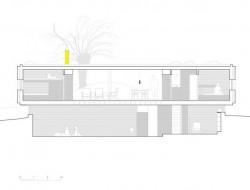Casa B - dressed in yellow - Segovia Spain - longitudinal section