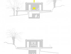 Casa B - dressed in yellow - Segovia Spain - transverse section