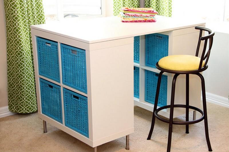 DIY Bookshelf Craft Table