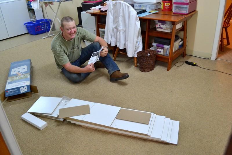DIY Bookshelf Craft Table - Bookshelf Assembly