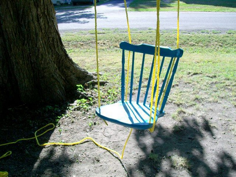 DIY Chair Tree Swing