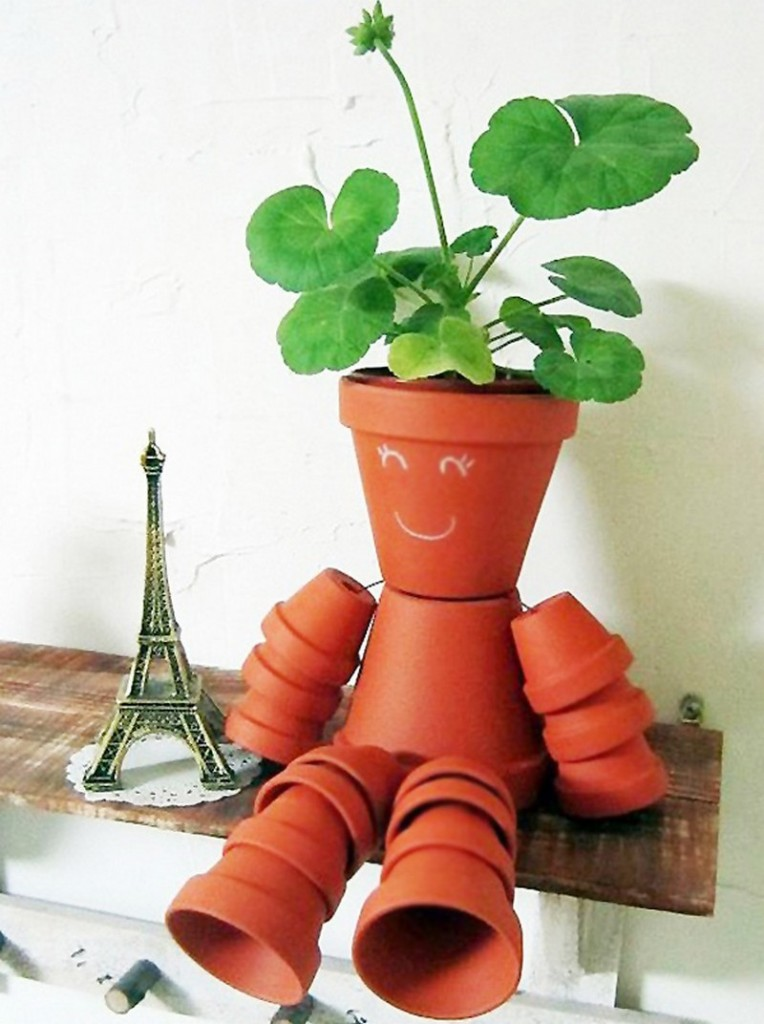 DIY Clay Pot Flower People