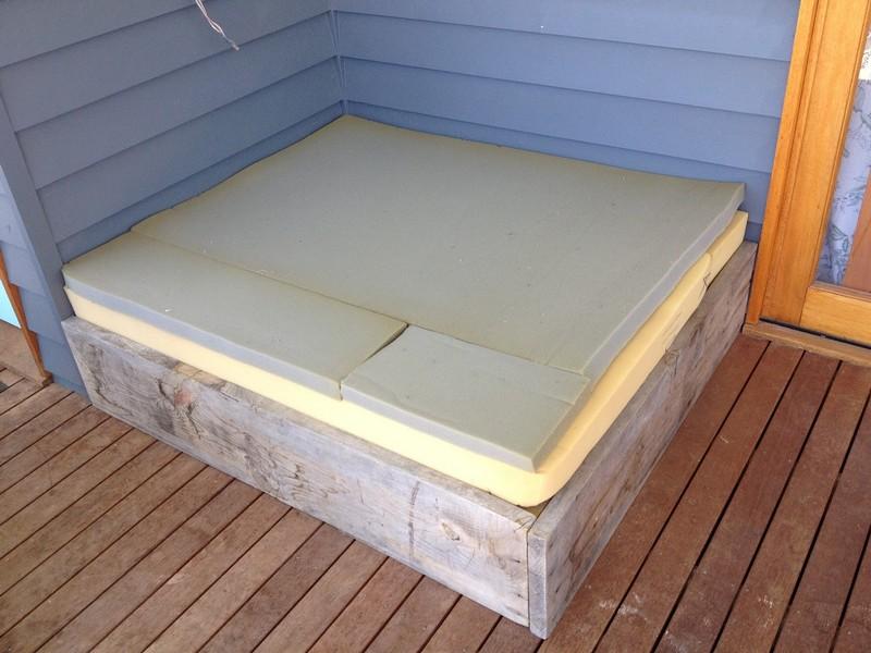 DIY Day Bed - Added Cushion