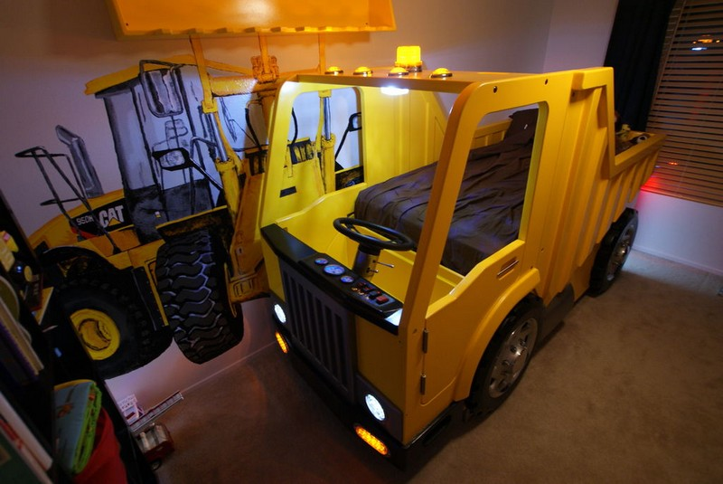 Dump Truck Toddler Bed : Diy dump truck bed the owner builder network