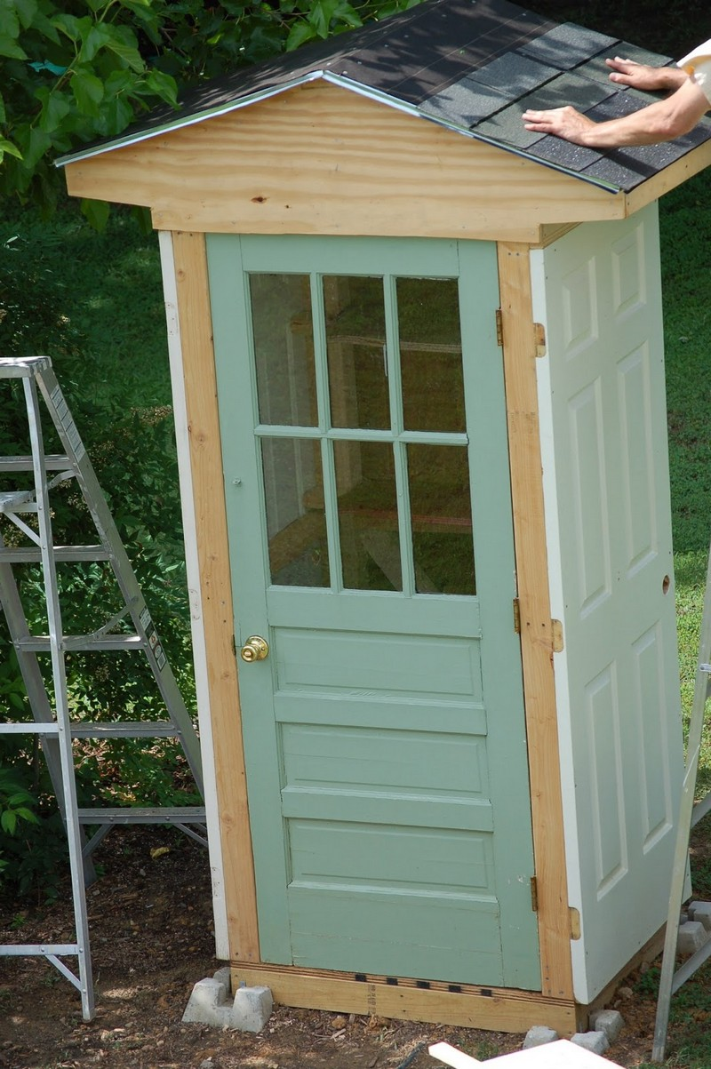 Diy four door shed the owner builder network for Diy garden shed