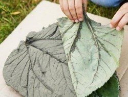 DIY Leaf-Shaped Stepping Stones - Remove Leaf