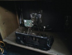 DIY Old TV Dog Bed - Dismantling