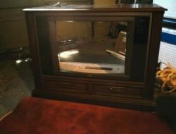 DIY Old TV Dog Bed - Dismantled