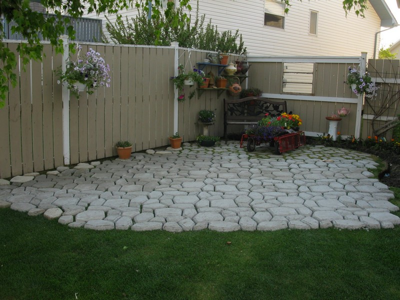 DIY Paved Patio. The First Thing You Need To Establish Is A Hard Surface  For Your Outdoor Space. Foot Traffic Wear Patterns Are The Most Common  Backyard ...