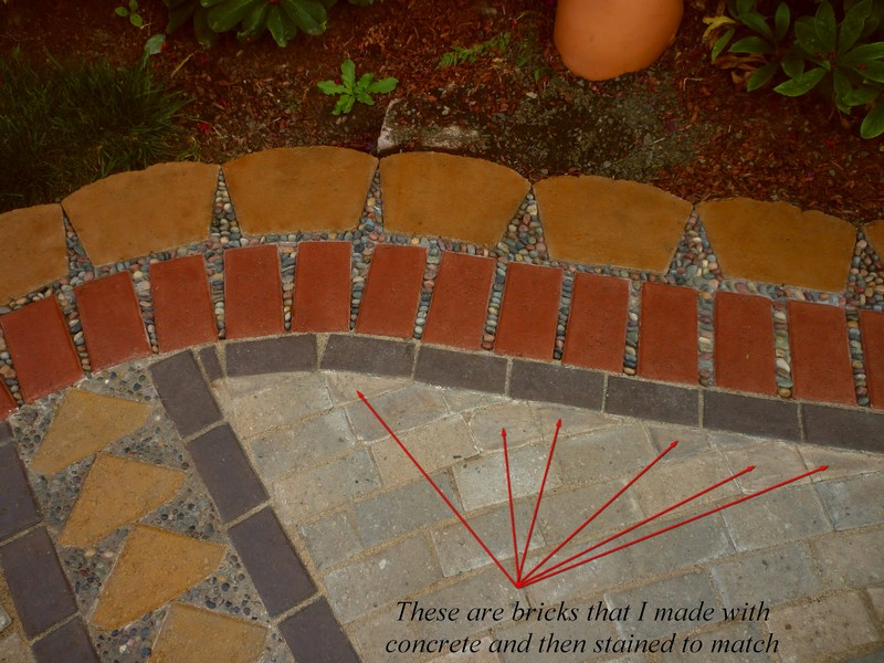 DIY Paver and Pebble Mosaic Patio