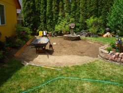 DIY Paver and Pebble Mosaic Patio - Site Preparation