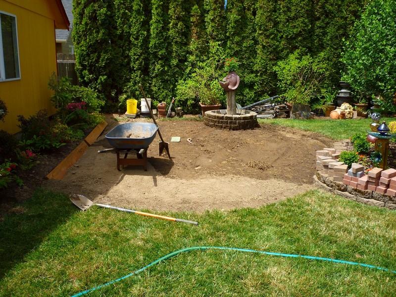 DIY Paver and Pebble Mosaic Patio - Site Preparation