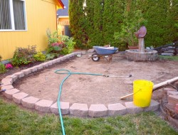 DIY Paver and Pebble Mosaic Patio - Pavers