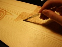 DIY Ruler Growth Chart - Staining