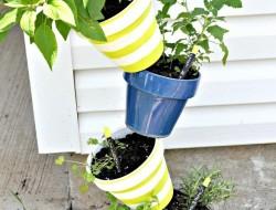 DIY Topsy-Turvy Herb Garden