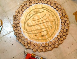 DIY Wood Slice Mirror - Adhesive for Mirror