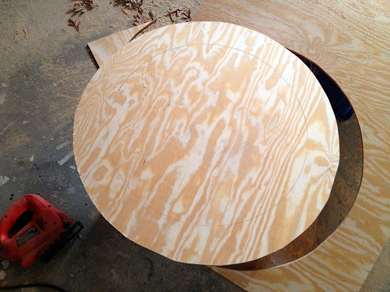 DIY Wood Slice Mirror - Board Cut into Size