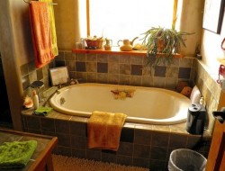 H and H Straw Bale Home - master bathroom