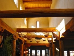 H and H Straw Bale Home - light well to great room