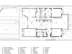 Hollowed-out house in Sydney - Floor Plan