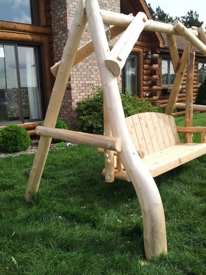 Outdoor Log Swing The Owner Builder Network