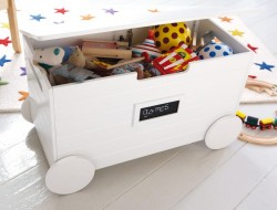 Toy Storage with Wheels