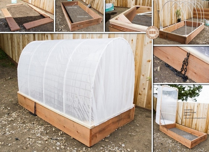 DIY Greenhouse Raised Garden Bed