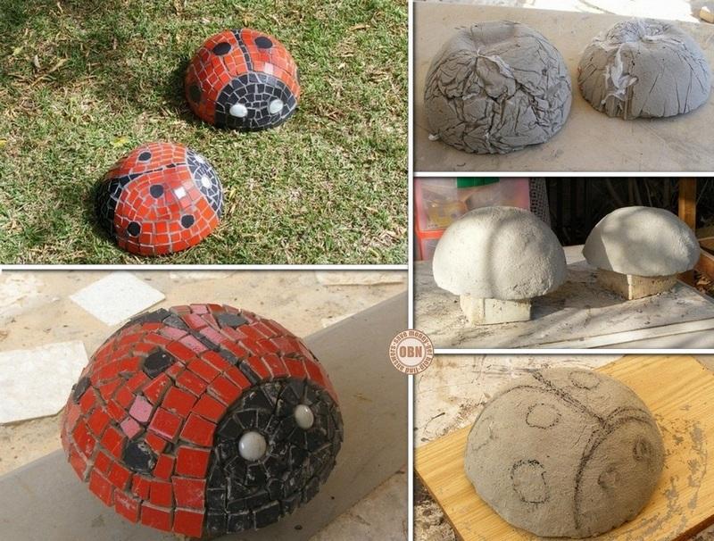 DIY Mosaic Lady Bugs