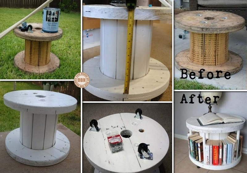 DIY Spool Bookcase