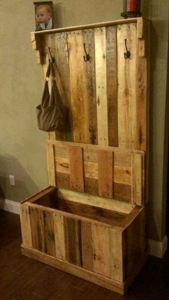 Build Foyer Bench : Pallet entryway bench the owner builder network