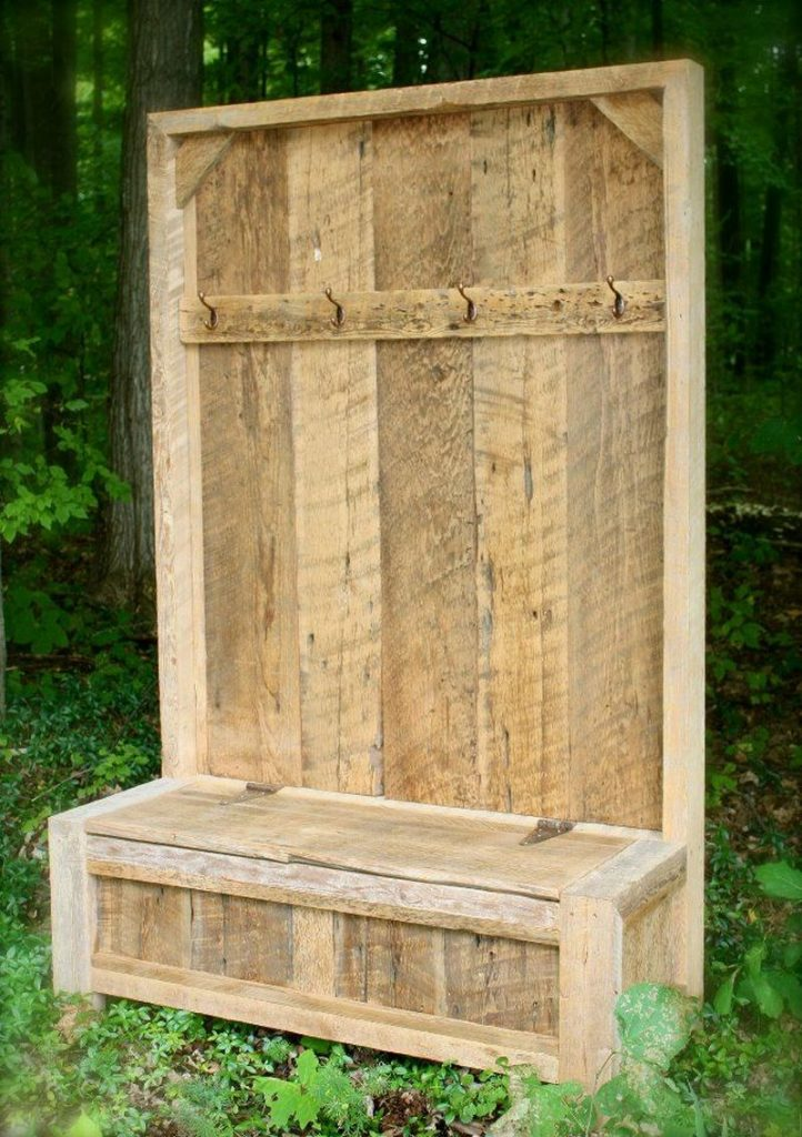 Pallet Foyer Bench : Pallet entryway bench the owner builder network