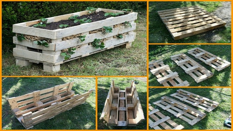 Diy Strawberry Pallet Planter How To Make A Pallet Planter