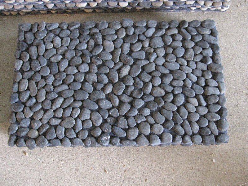 How to make a diy river rock doormat the owner builder for River stone doormat