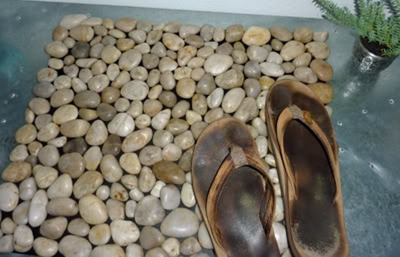 How To Make A Diy River Rock Doormat The Owner Builder